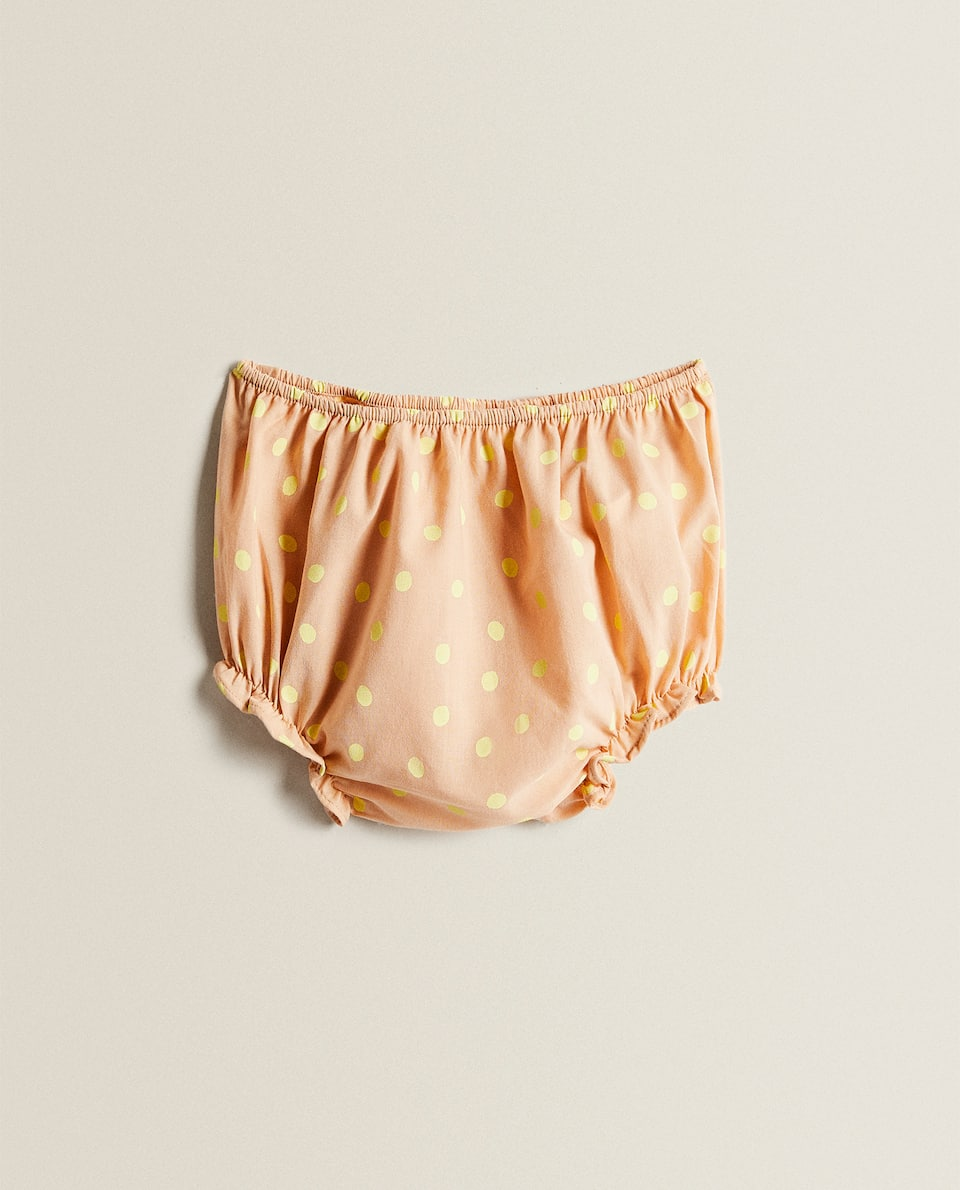 BABY BLOOMERS WITH POLKA DOTS