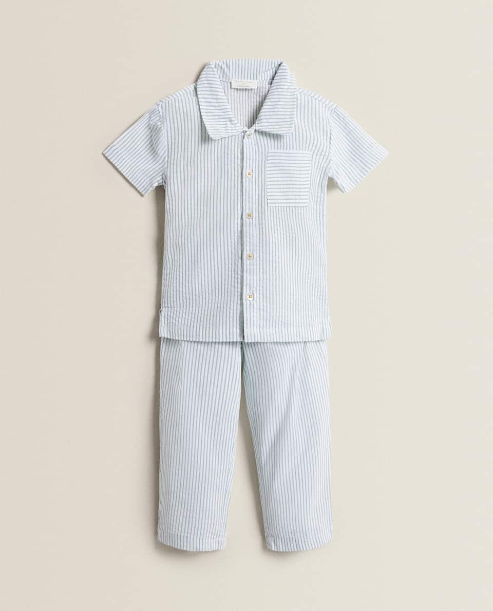 SET OF SEERSUCKER COTTON PYJAMAS