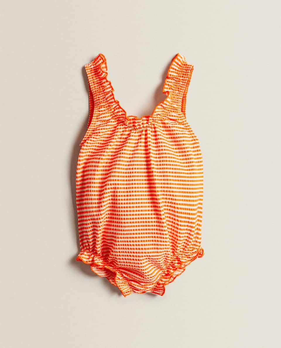 STRIPED SEERSUCKER SWIMSUIT