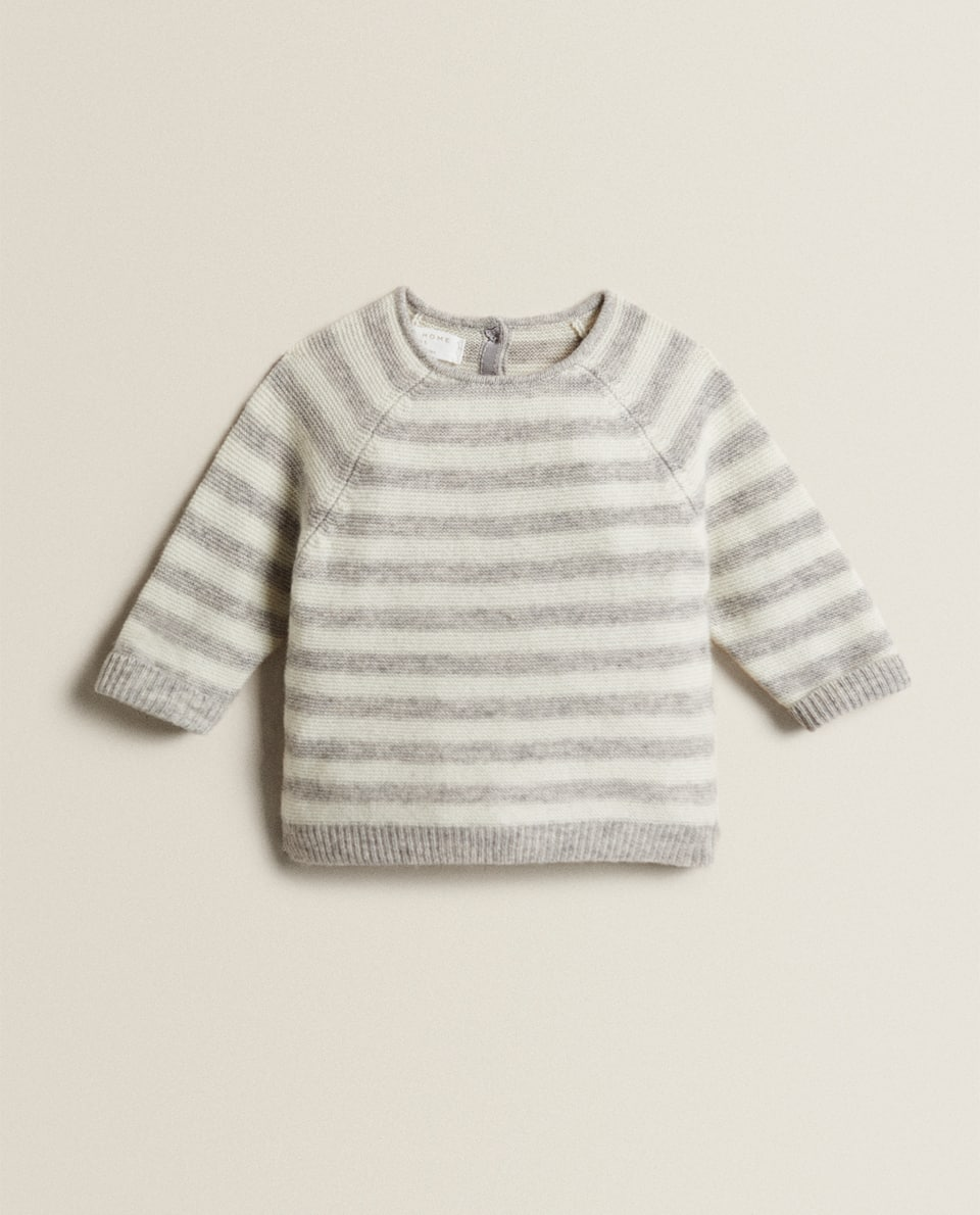 STRIPED CASHMERE BLEND SWEATER