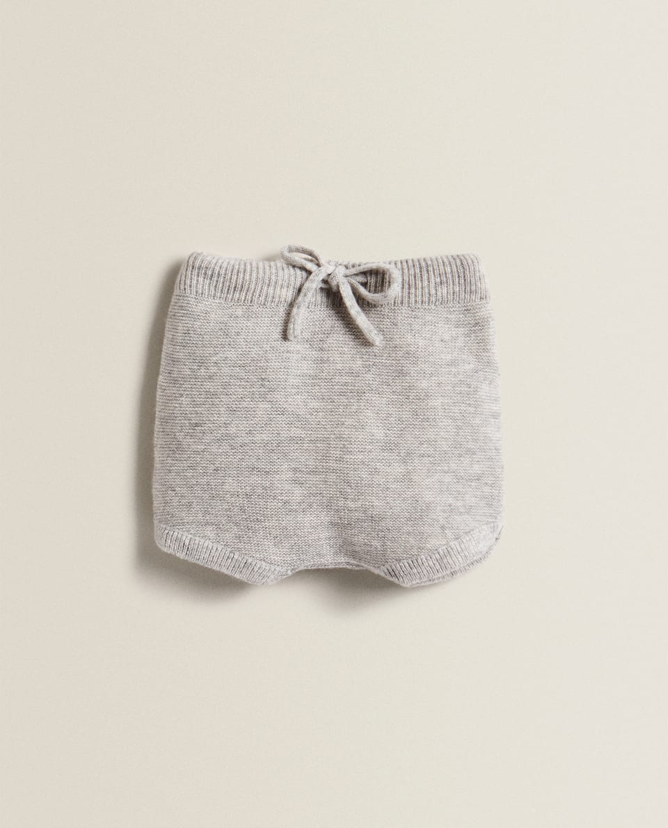 CASHMERE SHORTS WITH TIE