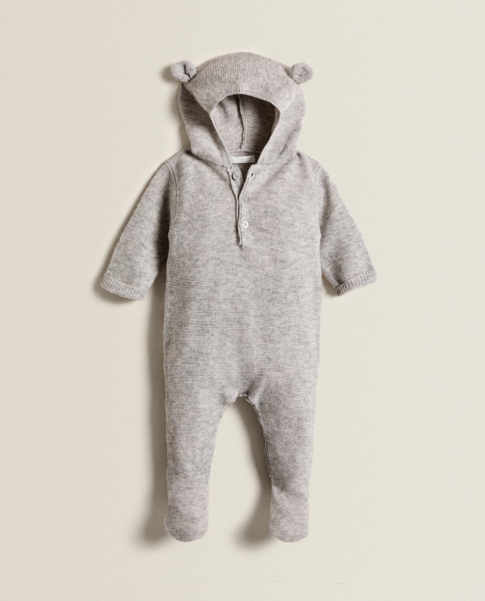HOODED CASHMERE BLEND DUNGAREES