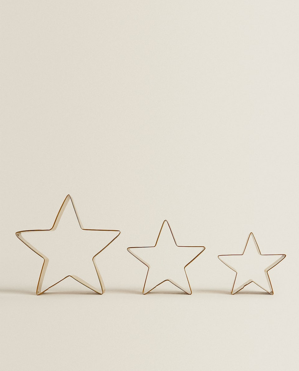 STAR-SHAPED COOKIE CUTTER (PACK OF 3)