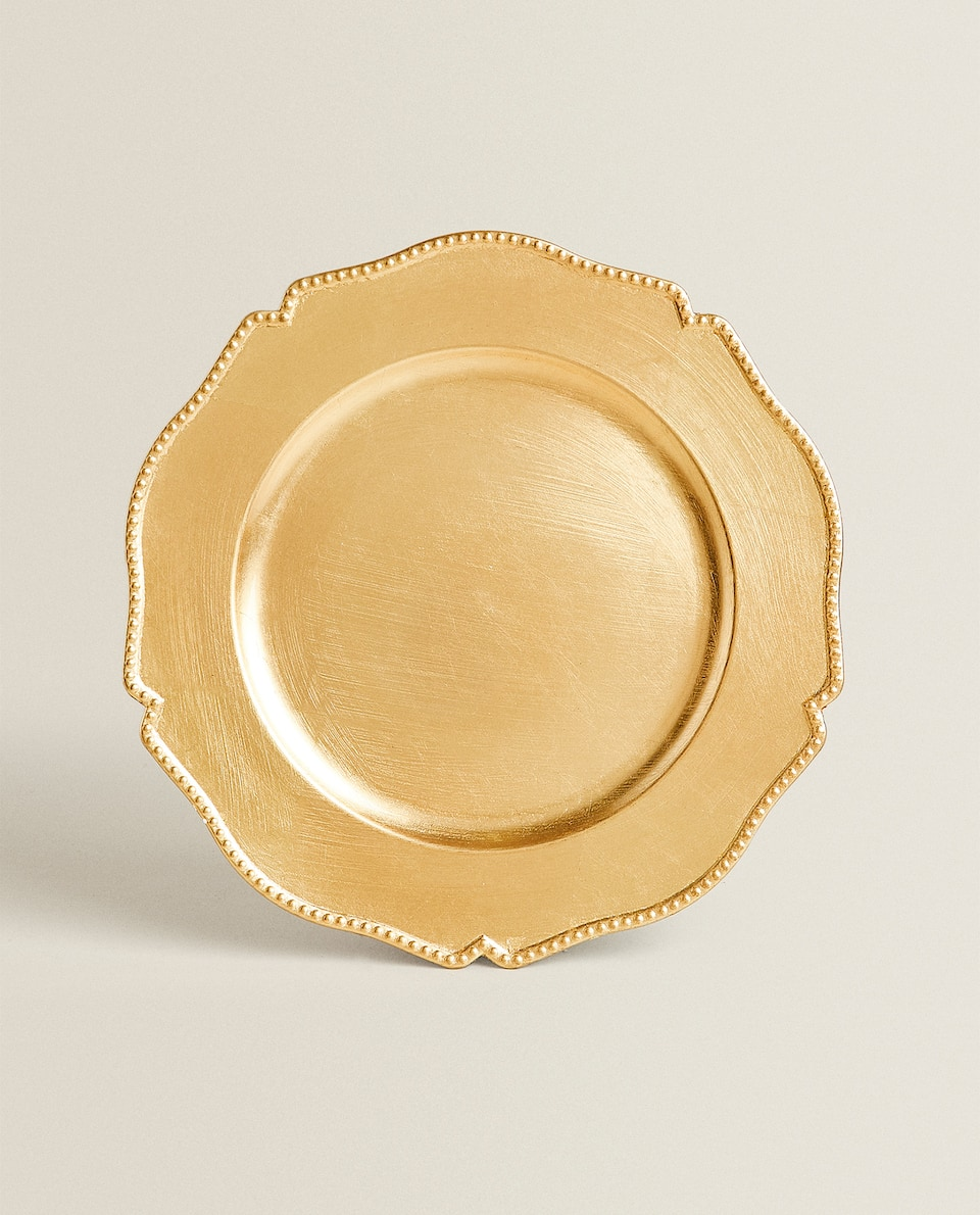 CURVED EDGE GOLD SERVICE PLATE