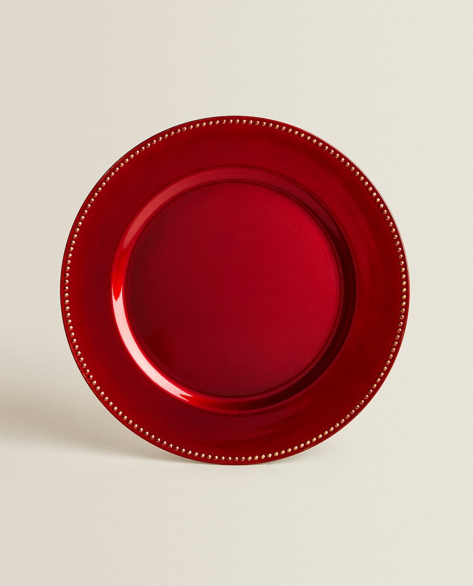 RED SERVICE PLATE