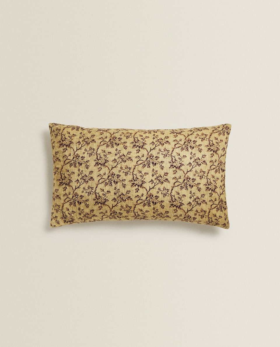 MINI FLORAL PRINT CUSHION COVER