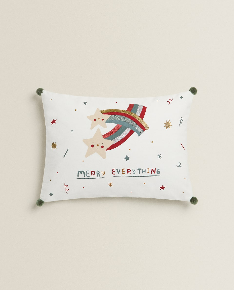 CHRISTMAS STARS CUSHION COVER