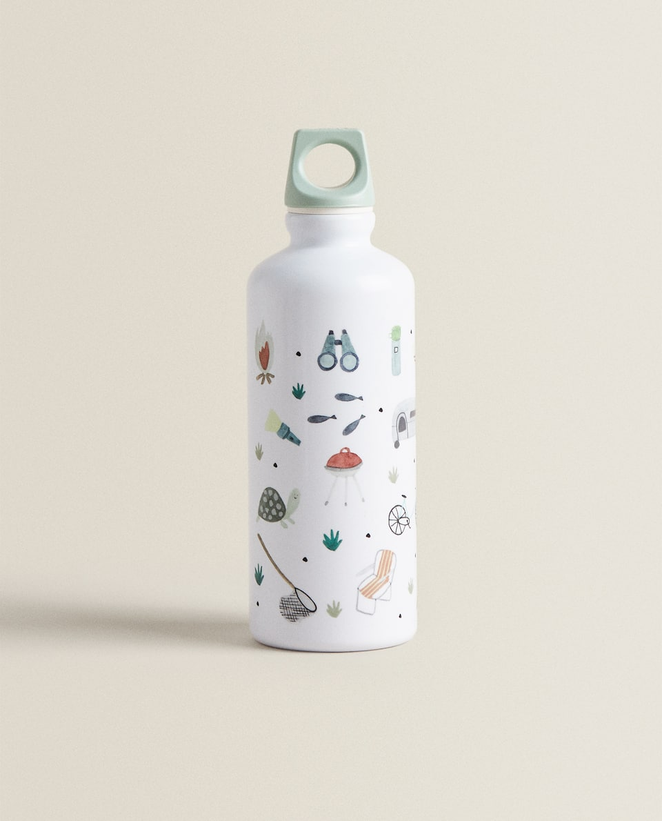 Beach print bottle