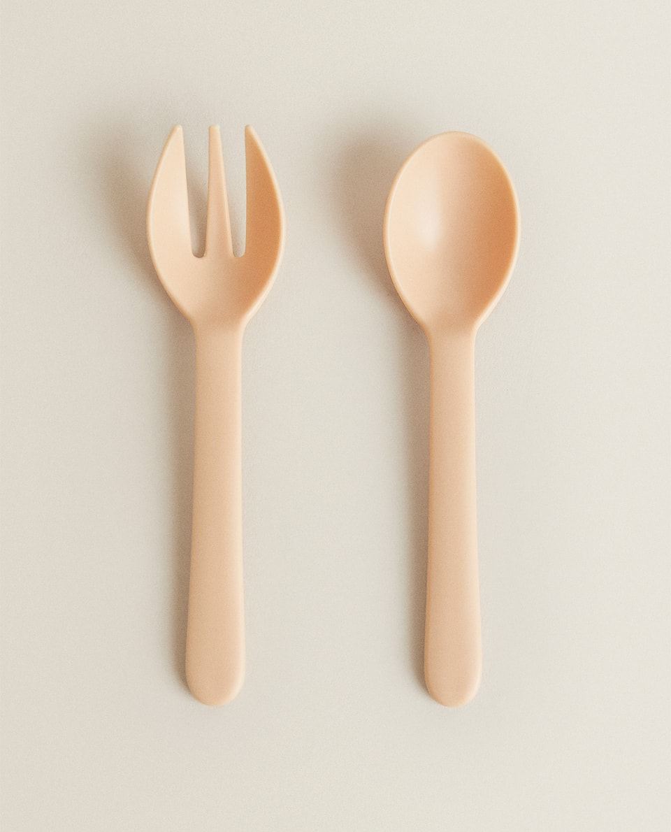 PLAIN SPOON AND FORK