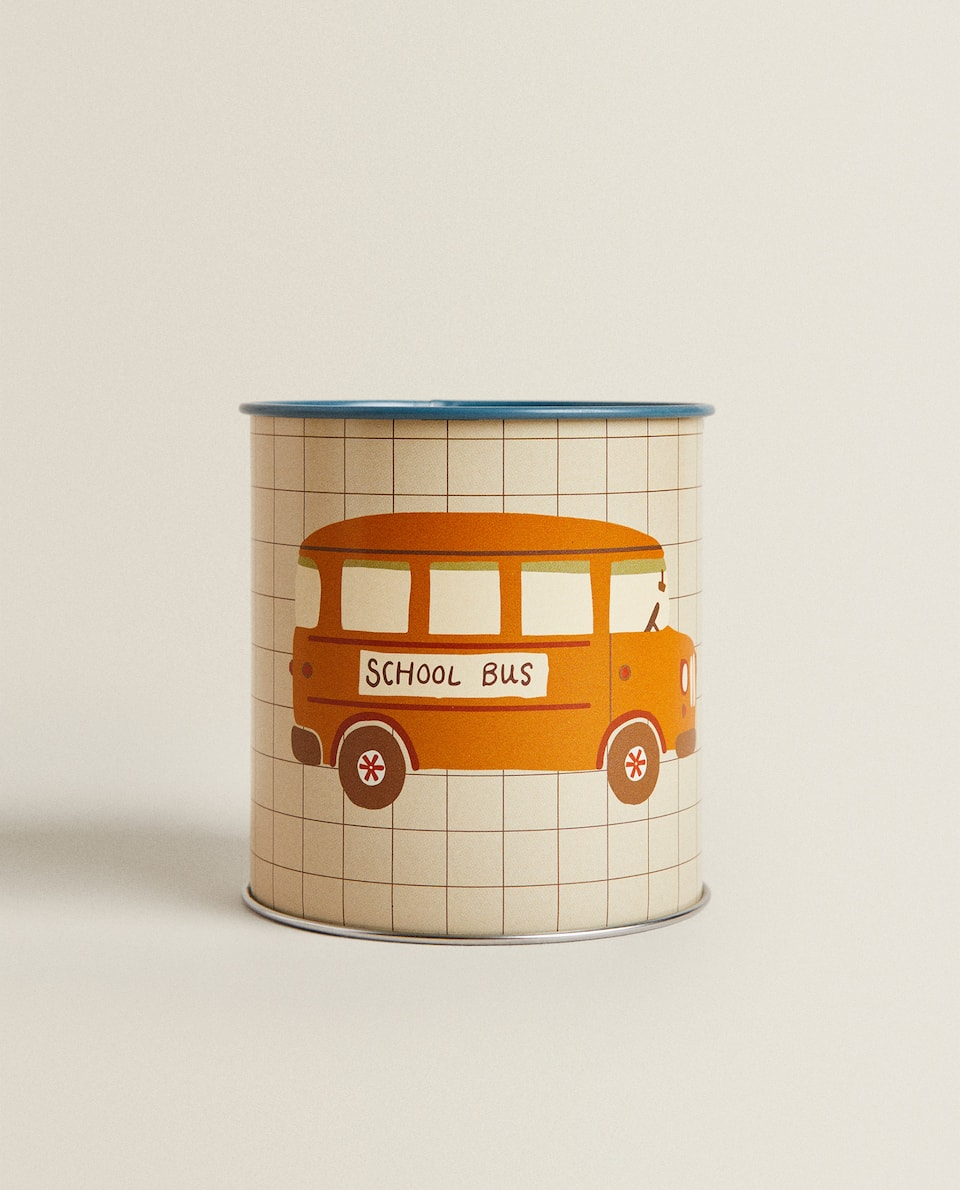 METAL SCHOOL BUS PENCIL HOLDER