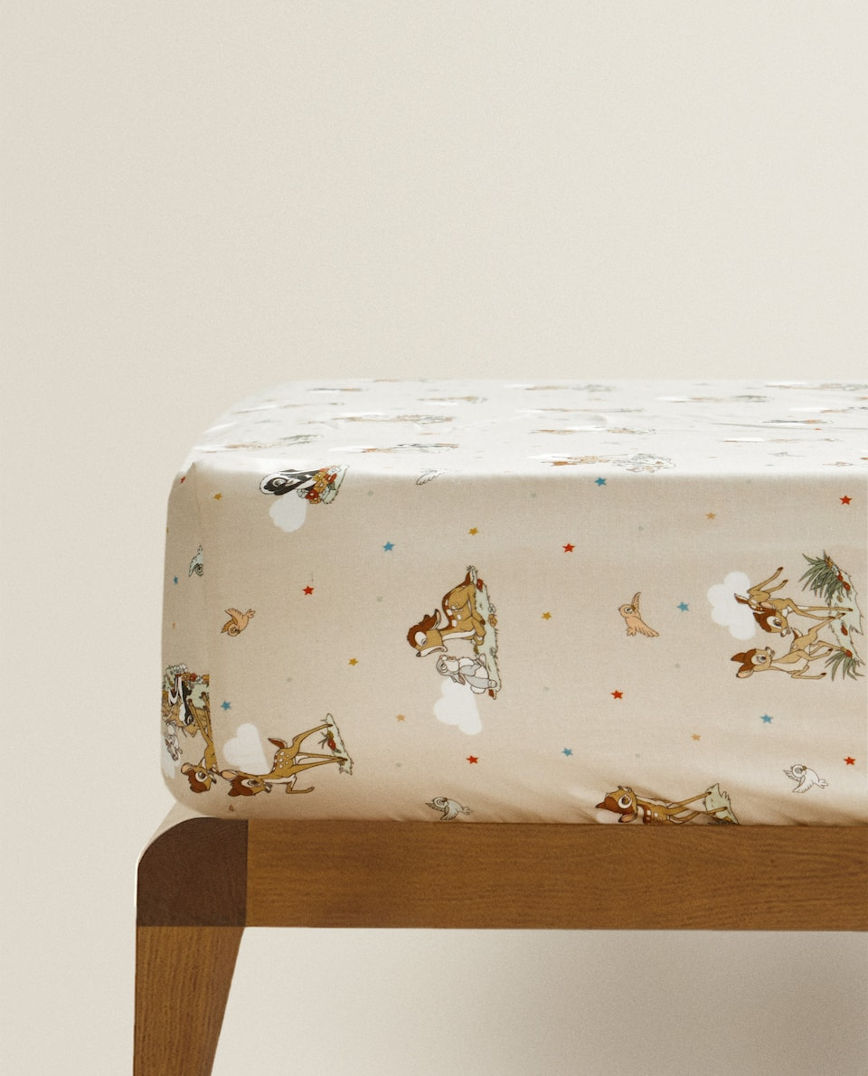BAMBI PRINT FITTED SHEET