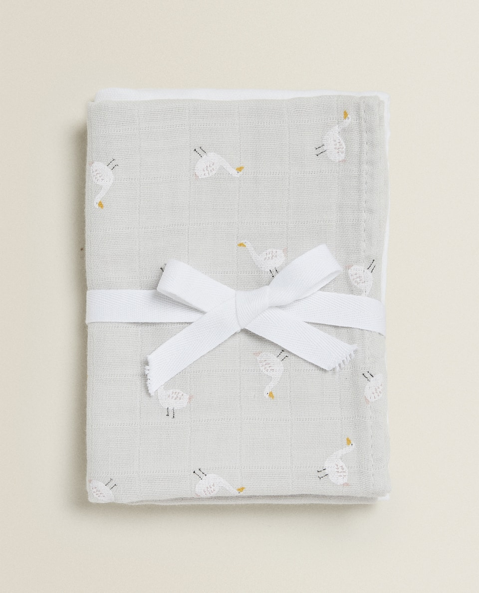 DUCK PRINT MUSLIN CLOTH (PACK OF 2)