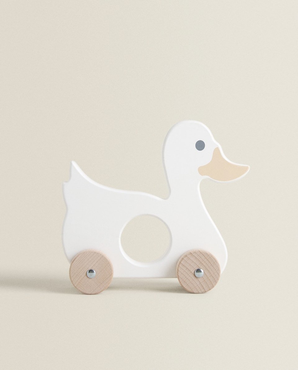 LARGE WOODEN DUCK TOY