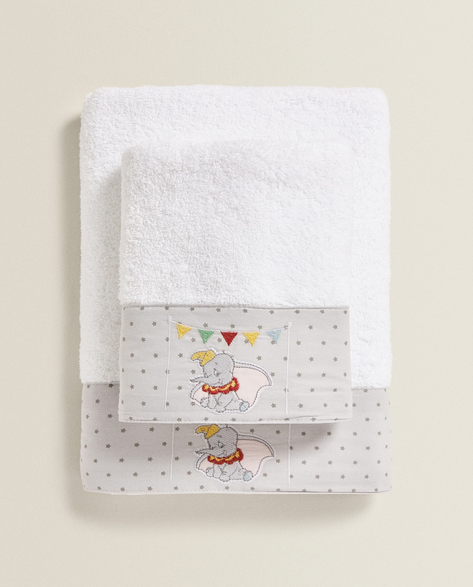 TOWEL WITH DUMBO EMBROIDERY