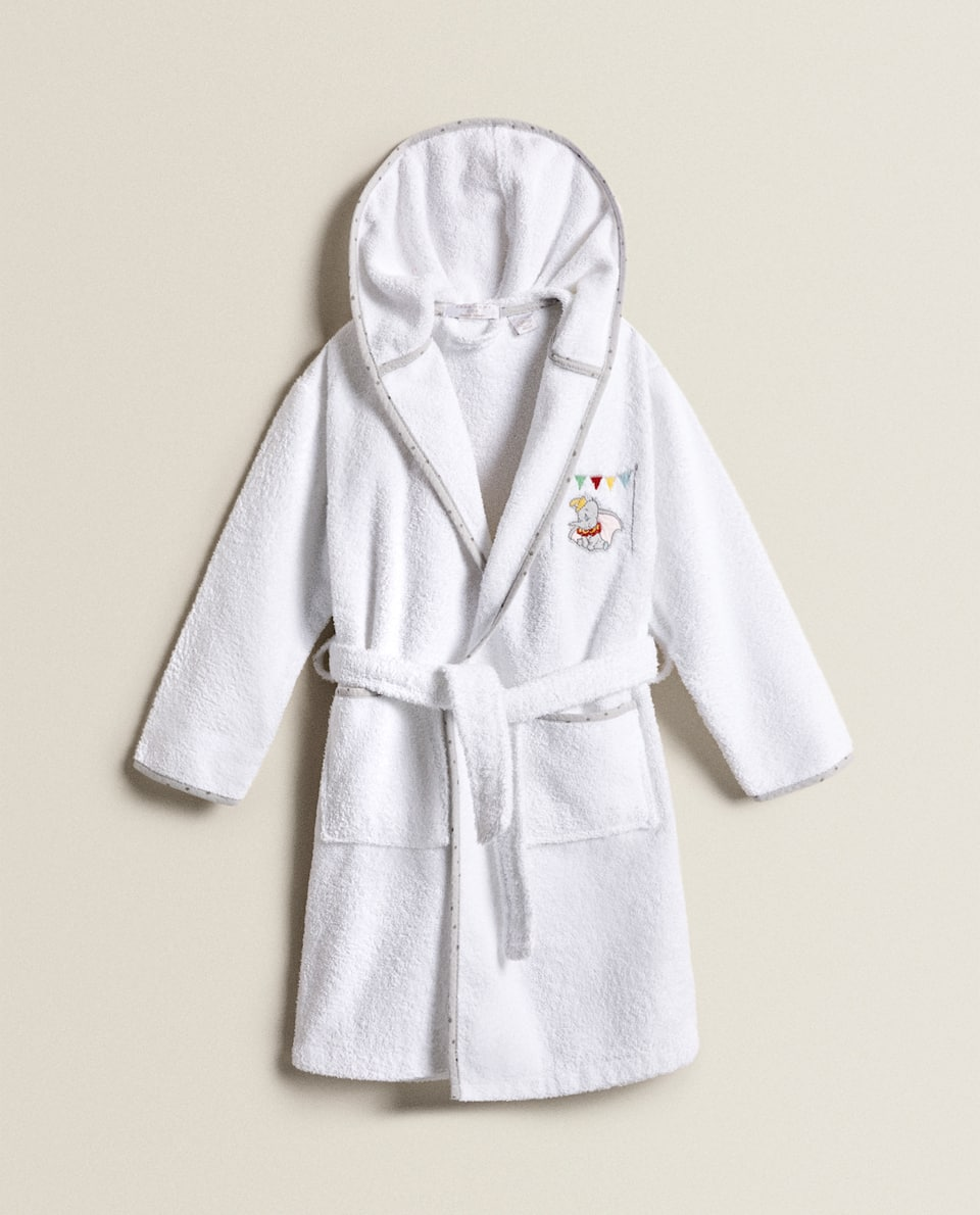 BATHROBE WITH EMBROIDERED DUMBO