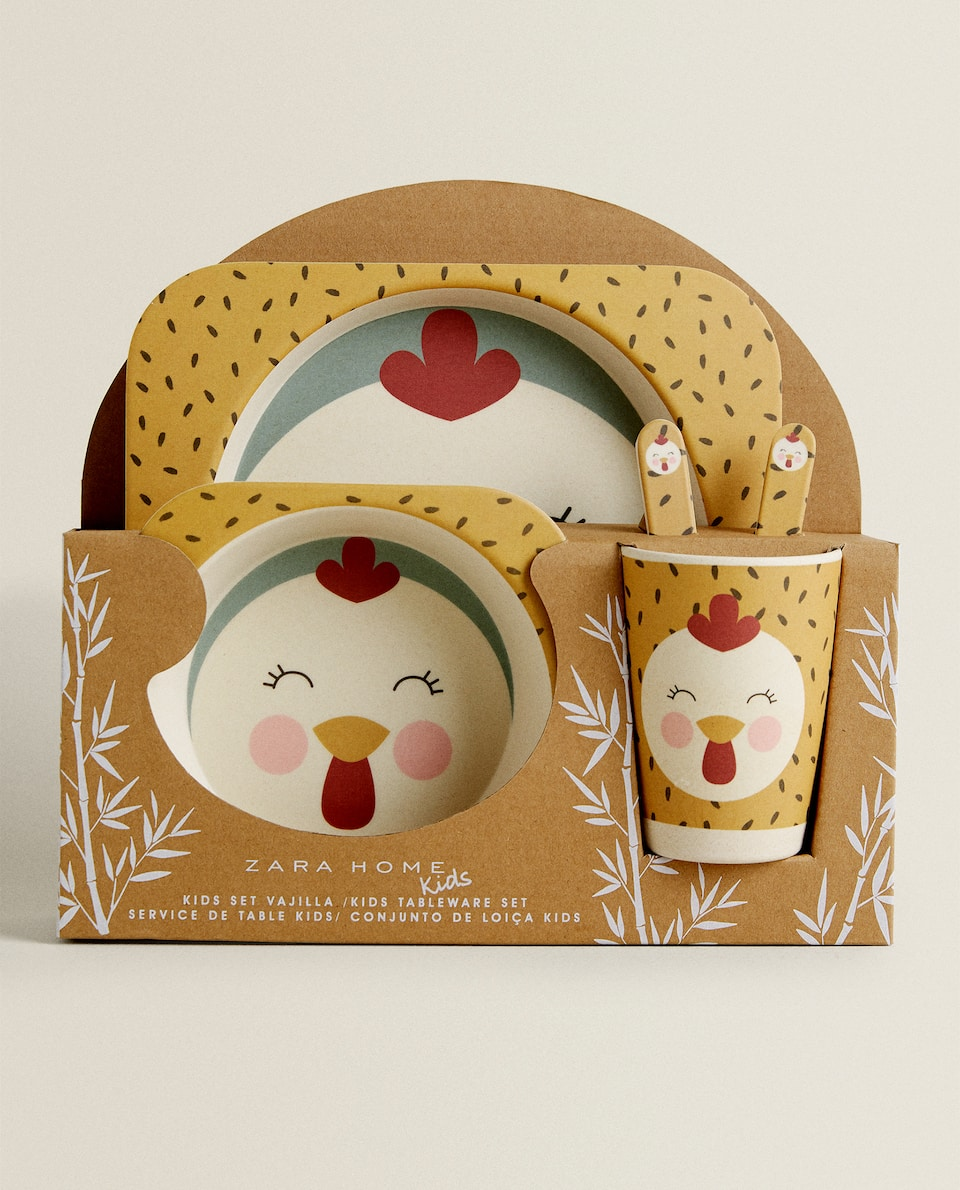 HEN BAMBOO TABLEWARE SET