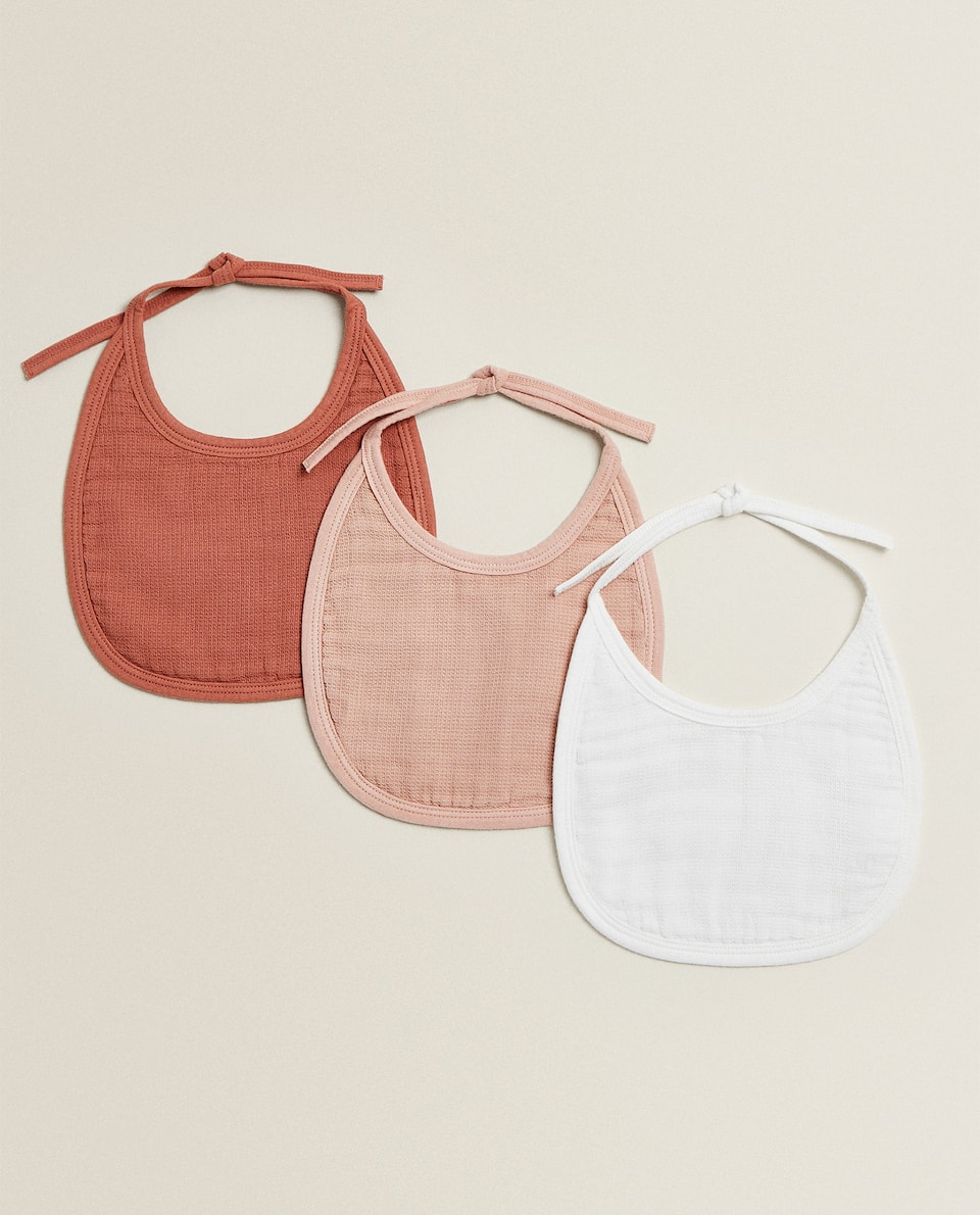 PLAIN COTTON BIB (PACK OF 3)