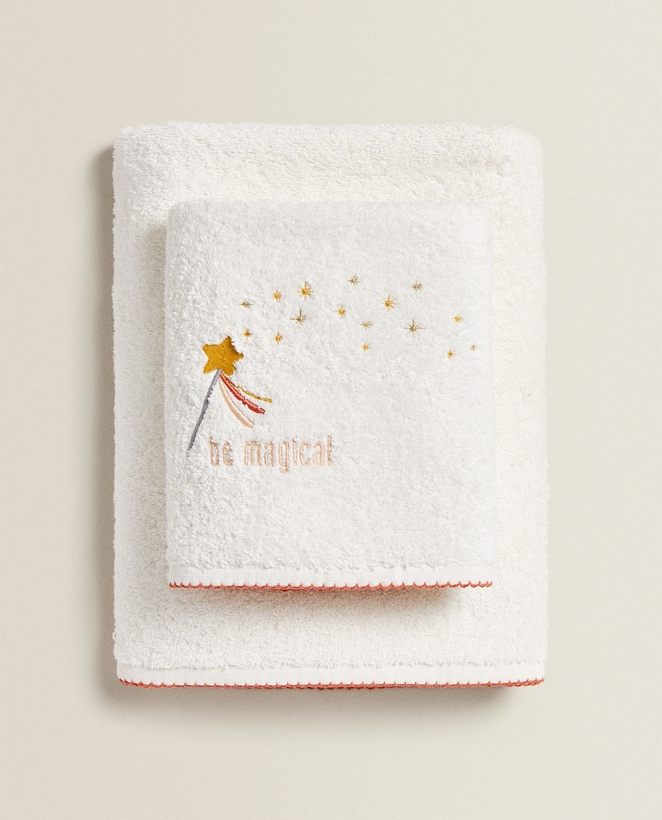 TOWEL WITH MAGIC WAND EMBROIDERY
