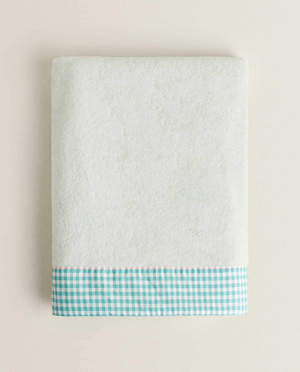 MINI CHECK BEACH TOWEL