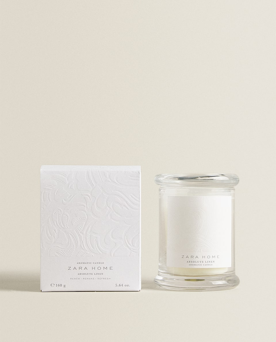 ABSOLUTE LINEN SCENTED CANDLE (160 G)
