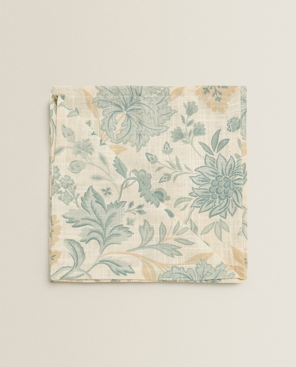 PLANT PRINT NAPKINS (PACK OF 2)