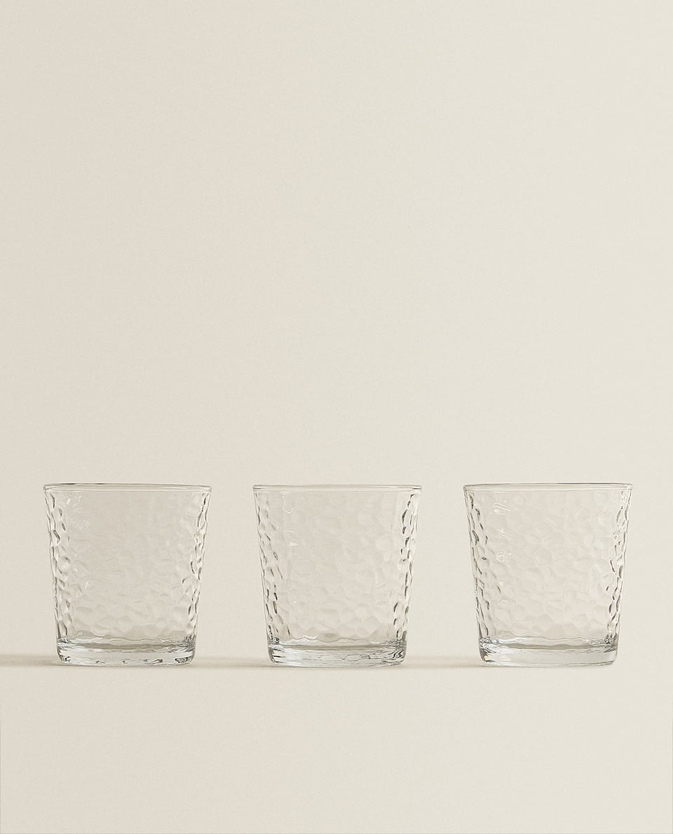 FACETED-EFFECT TUMBLER (PACK OF 3)
