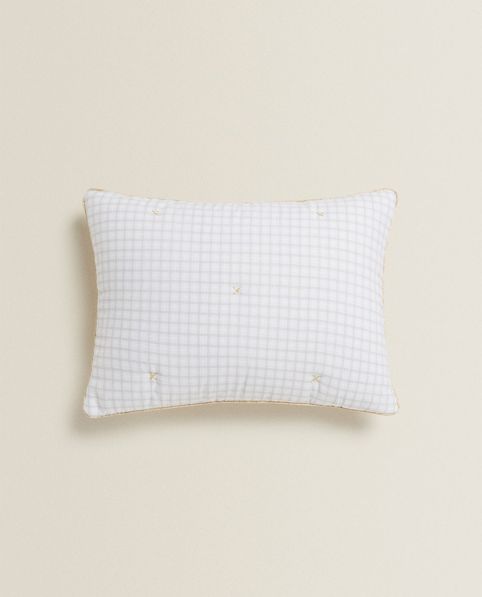CHECKED THROW PILLOW