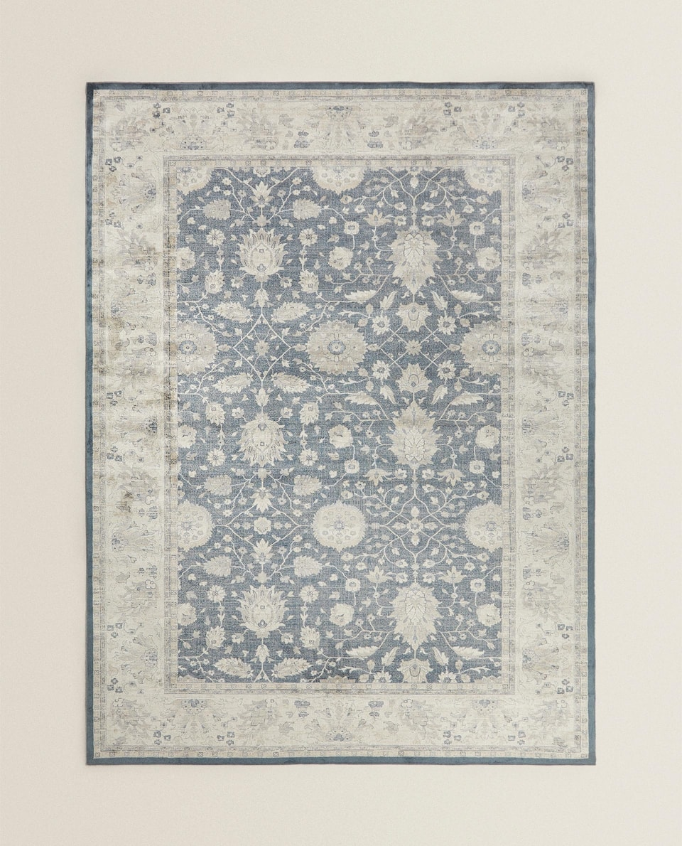BLUEISH VISCOSE RUG