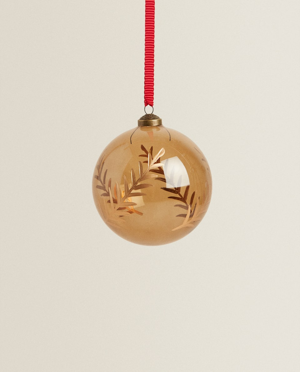 BOROSILICATE GLASS CHRISTMAS BAUBLE