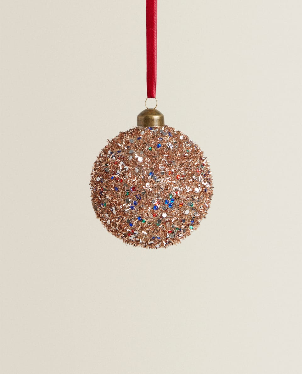SEQUINNED CHRISTMAS BAUBLE