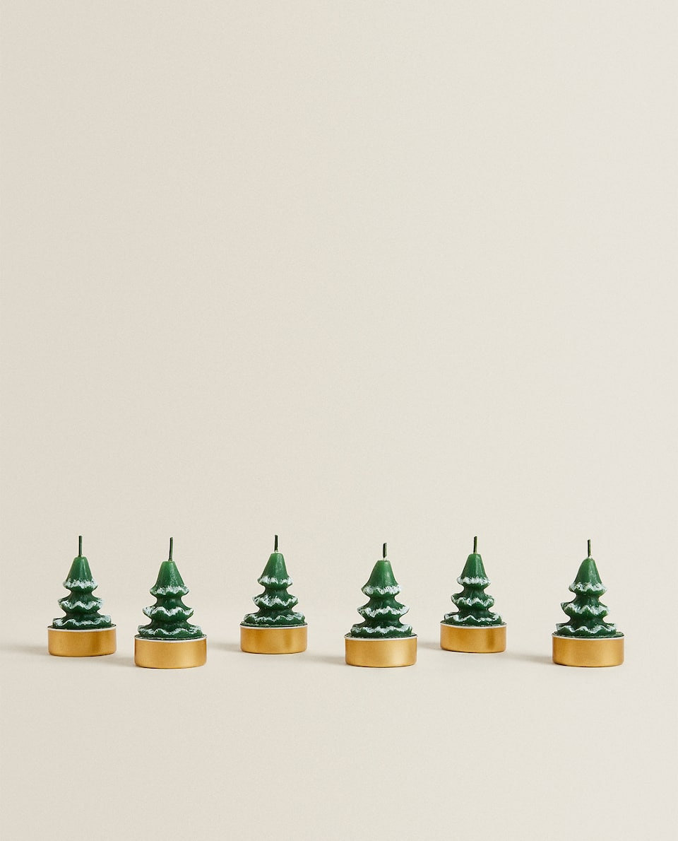 FIR TREE CANDLE (SET OF 6)