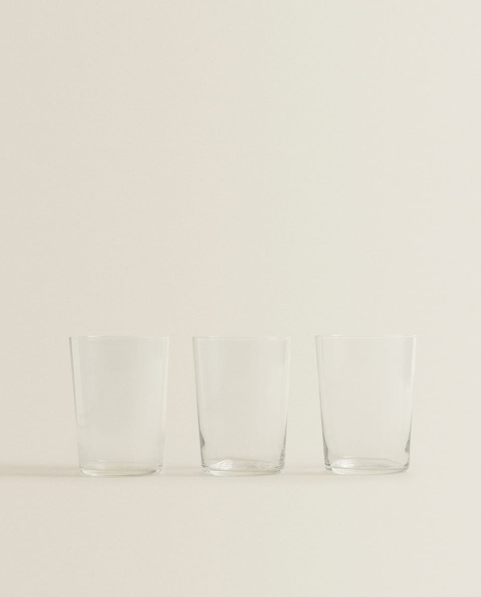 GLASS SOFT DRINK TUMBLER (SET OF 3)