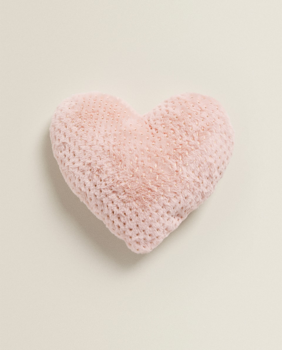 HEART-SHAPED CUSHION WITH DOTS