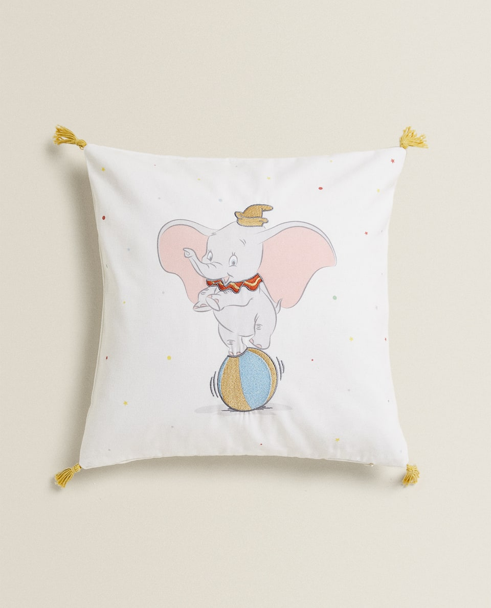 CUSHION COVER WITH DUMBO EMBROIDERY
