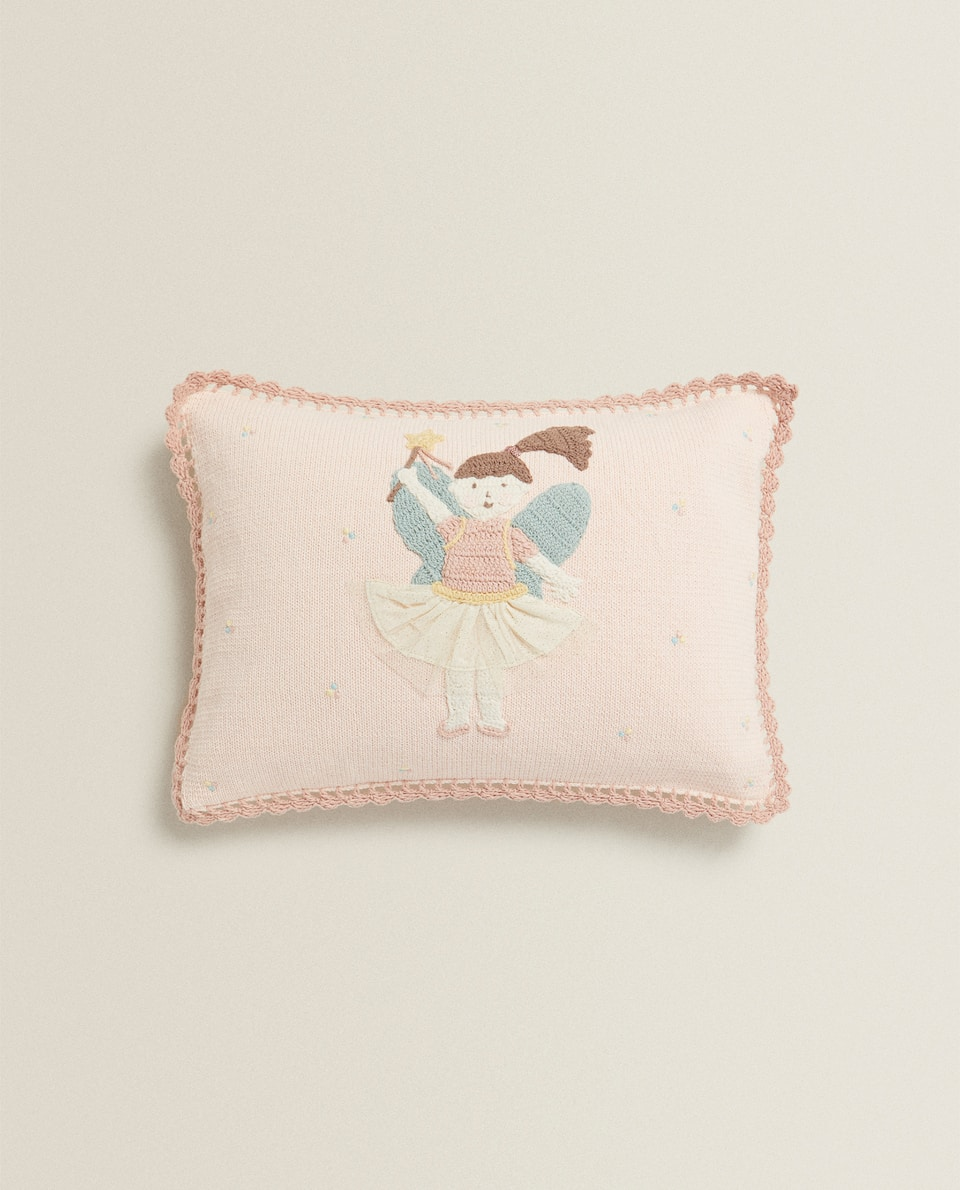 BALLET CROCHET CUSHION COVER