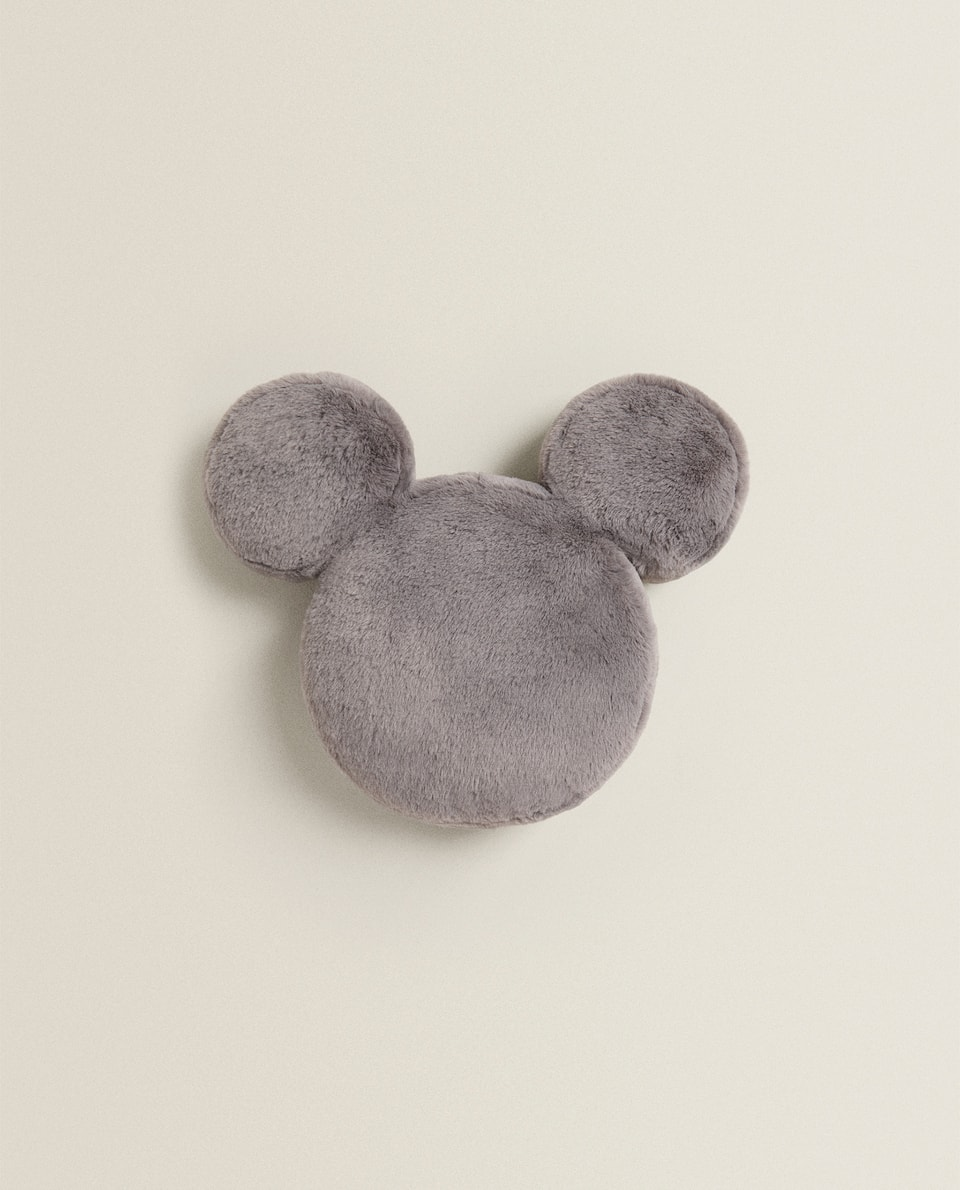 FAUX FUR MICKEY CUSHION