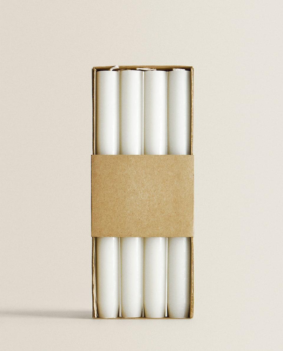 شمعة أسطوانية طويلة (حزمة من 4)