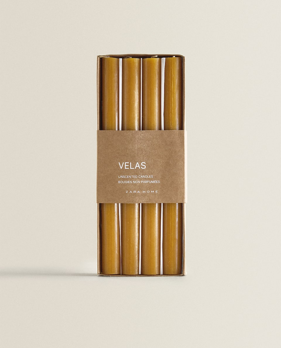 LONG CYLINDRICAL CANDLE (PACK OF 4)