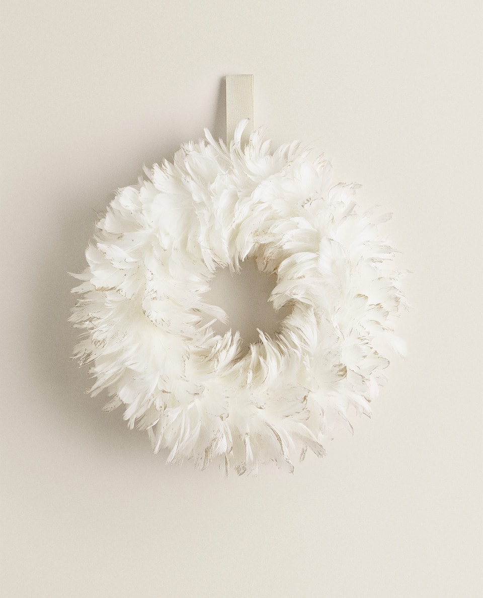 FEATHER CHRISTMAS GARLAND