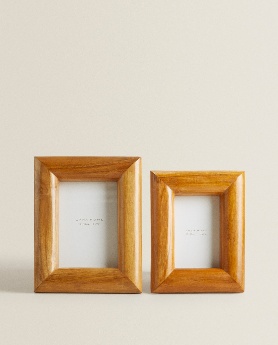 TAN WOODEN FRAME
