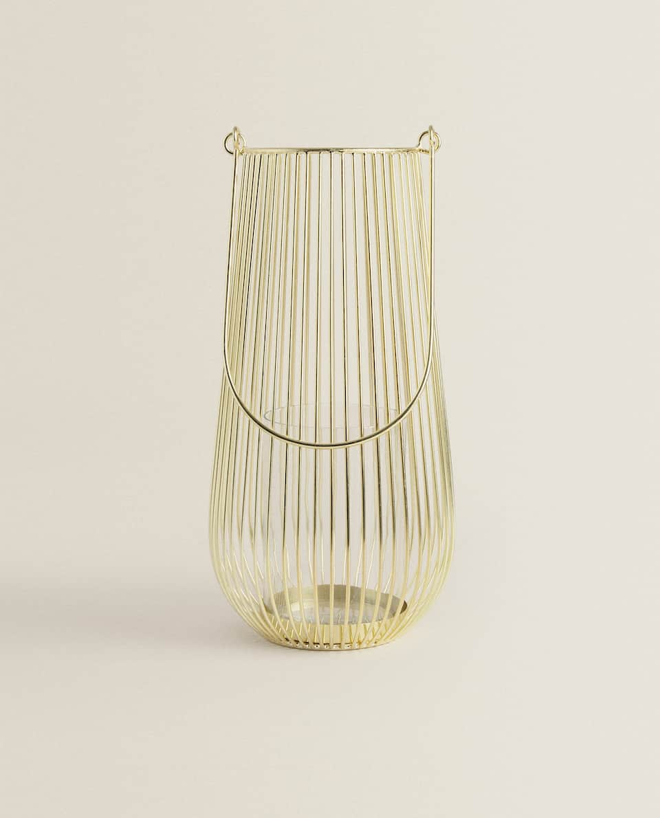LANTERN WITH GOLD BARS