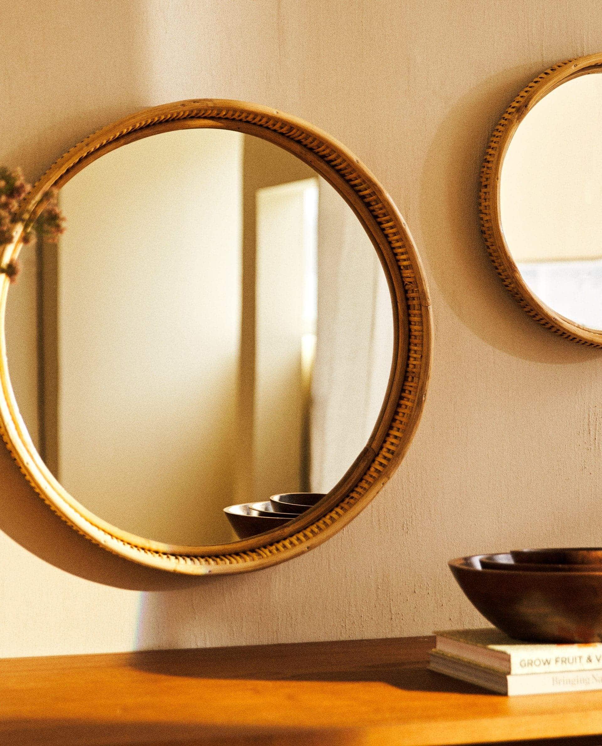 ZARA HOME - ogledalo od ratana