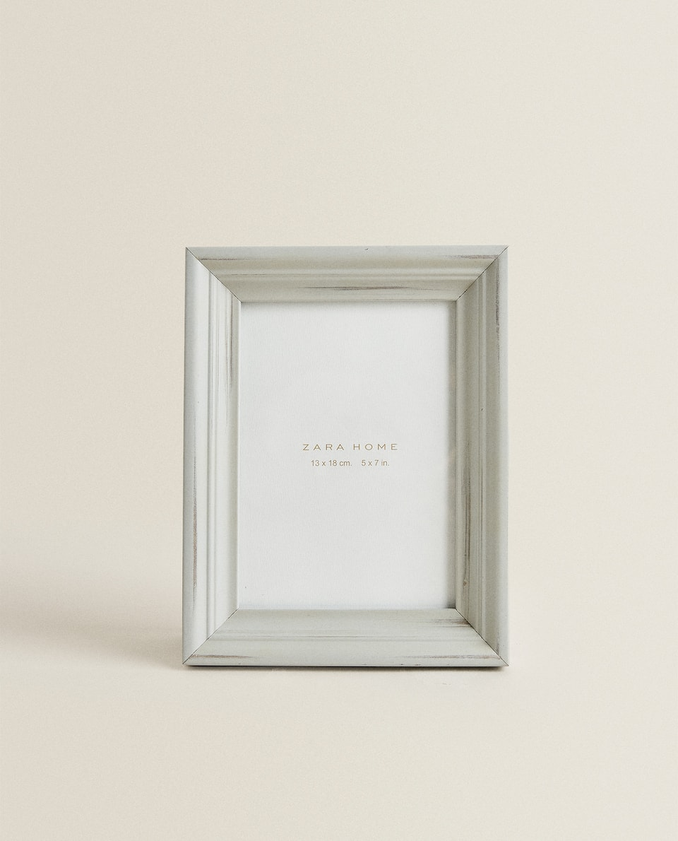 GREY WOODEN FRAME