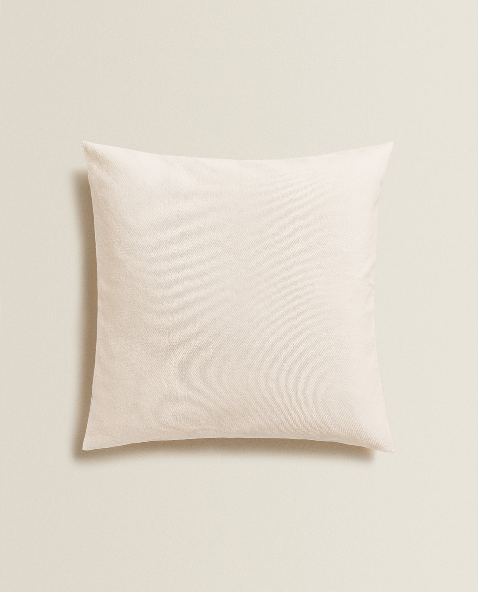 SOLID COTTON THROW PILLOW