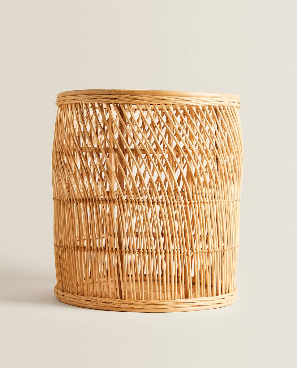 WOVEN BASKET WITH WAVY DESIGN