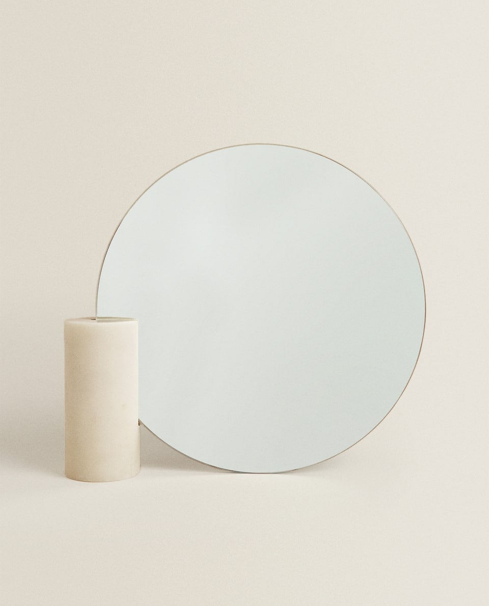 MIRROR WITH MARBLE BASE