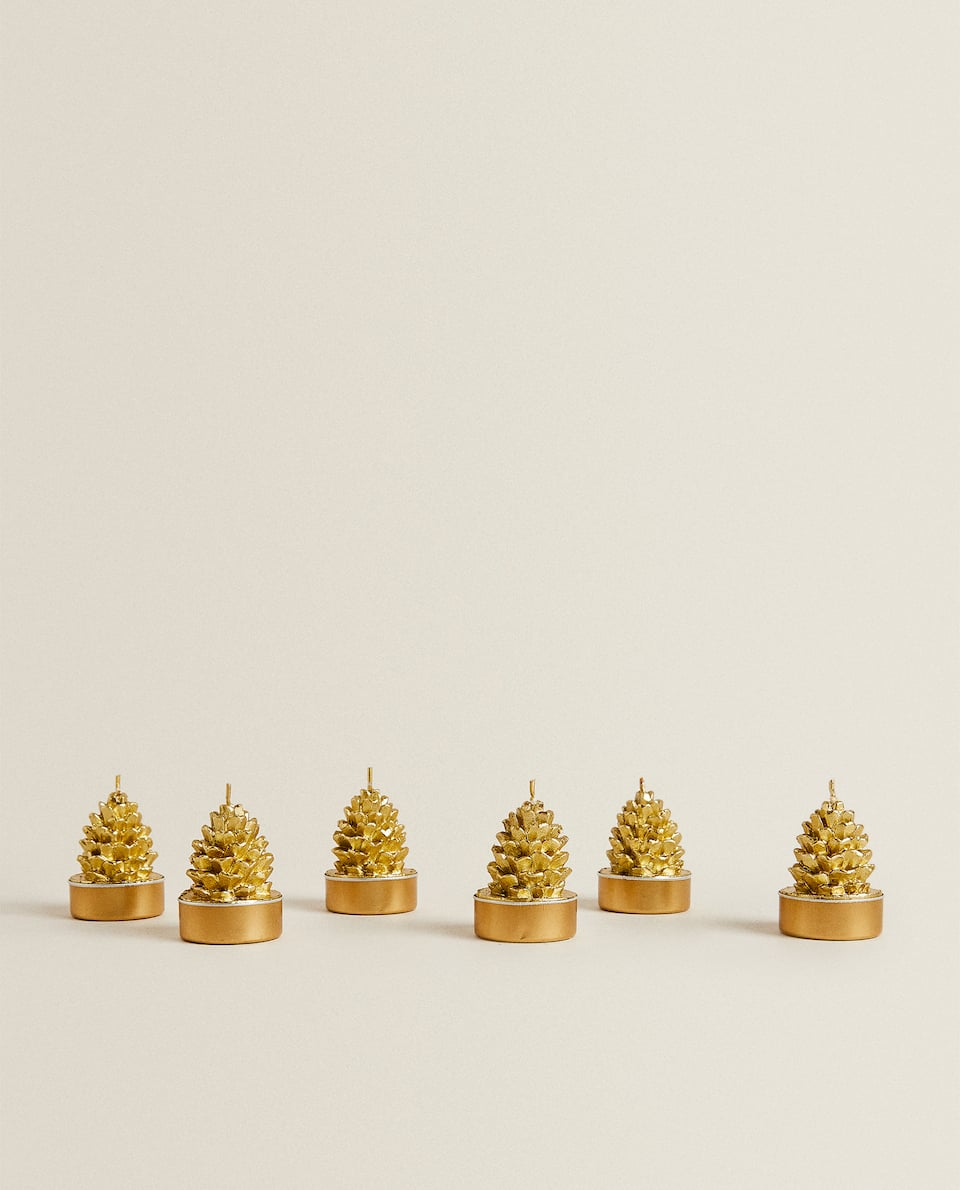 PINE CONE CANDLE (SET OF 6)