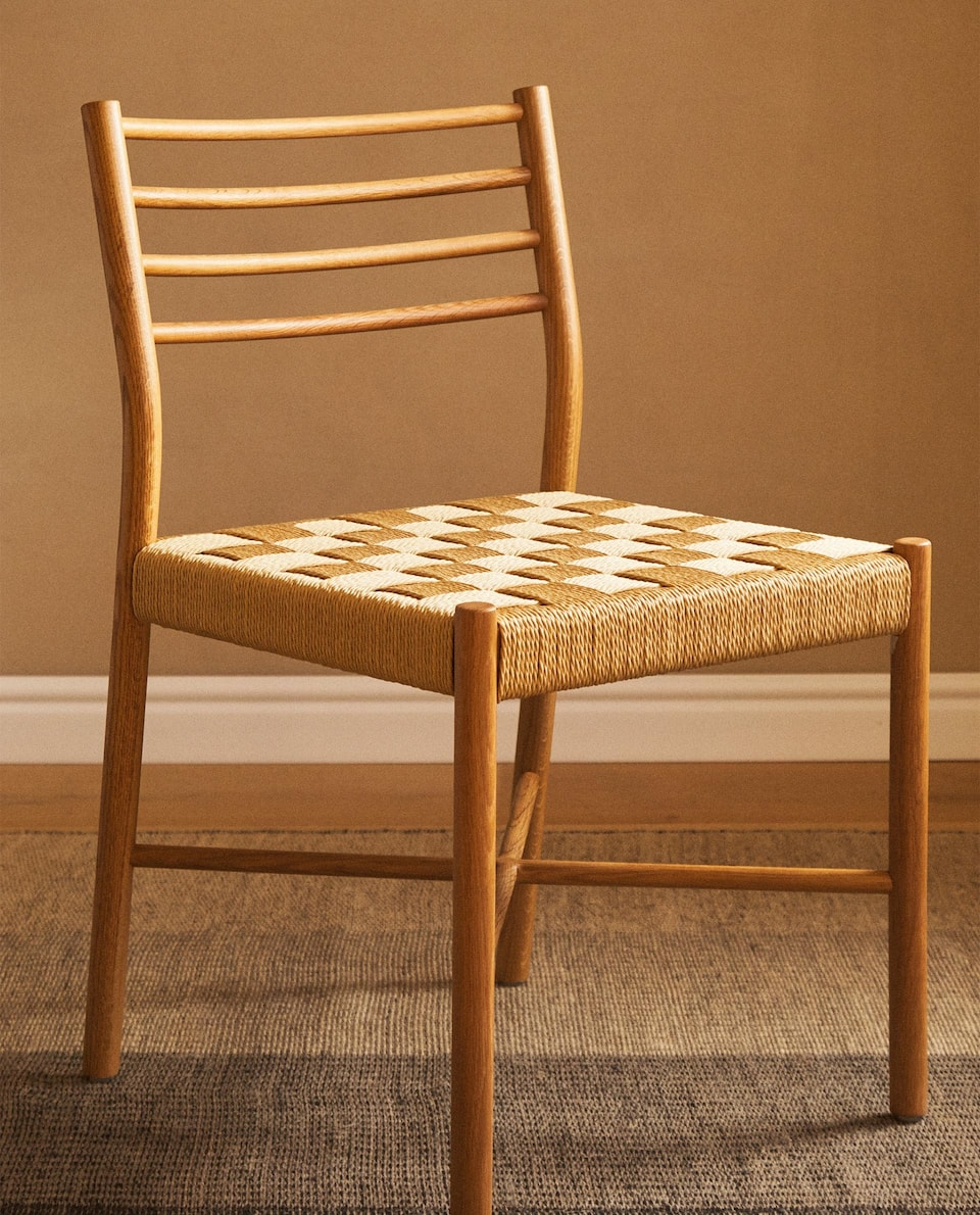 PLAITED OAK CHAIR