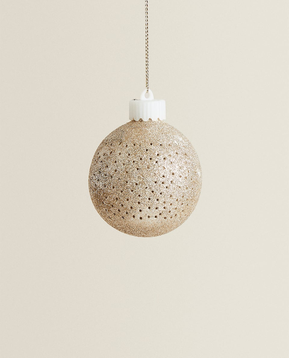 GLITTERY CHRISTMAS BAUBLE