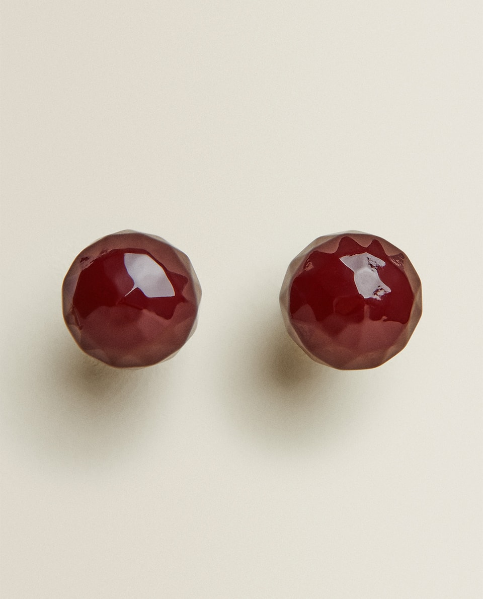 RESIN CHERRY DOOR KNOB (PACK OF 2)